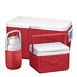 Pack de Coolers 48 qt Rojo