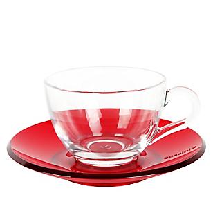 Taza de Té + Plato Rojo Gocce