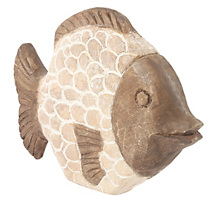 Adorno Madera Pescado 40cm Pya
