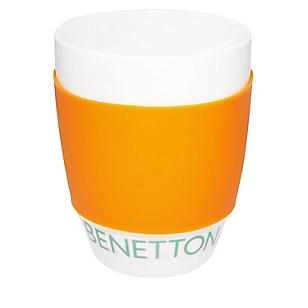 Mug Con Silicona 340ml Naranja