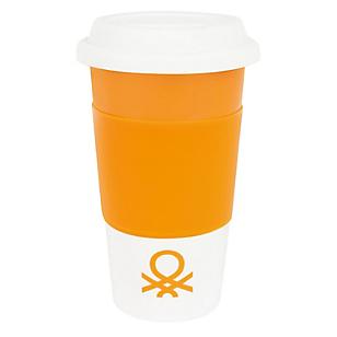 Mug Con Tapa Sili 300ml Naranja