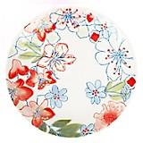 Plato Gipsy Floral 21,5 cm Blanco