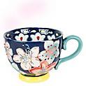 Mug Gypsy Floral Azul