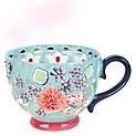 Mug Gypsy Floral Turquesa