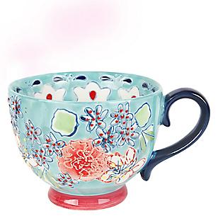 Mug Gipsy Floral Turquesa