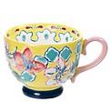 Mug Gypsy Floral Amarillo