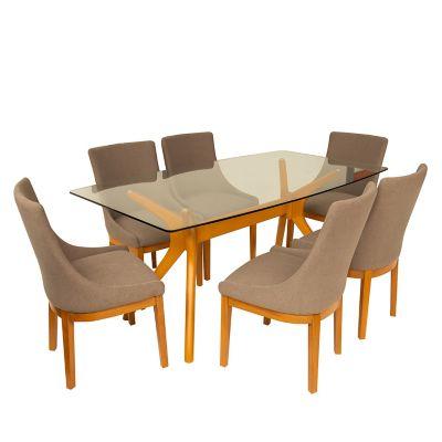 Juego de comedor louvre 6 sillas basement home for Juego de living comedor moderno