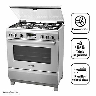 Bosch Cocina 5 Quemadores PRO567 Inox