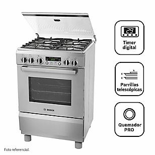 Bosch Cocina 4 Quemadores PRO465 Inox