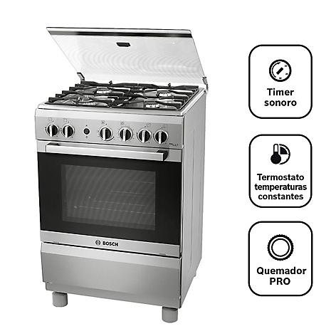 Cocina Bosch 4 Quemadores Pro447 Inox