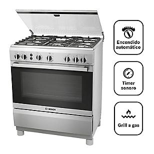 Bosch Cocina 5 Quemadores PRO547 Inox