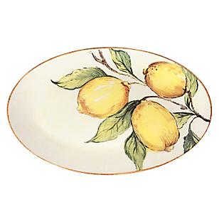 Fuente Oval 33x21cm Limones