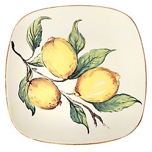 Fuente Cuadrada 27x27cm Limones
