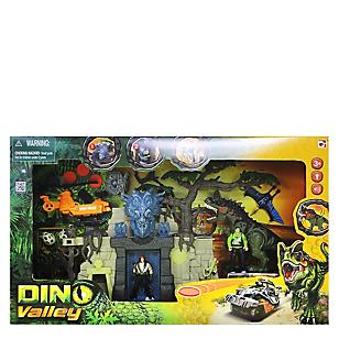 Set Fortaleza Dino Figuras y Vehículo