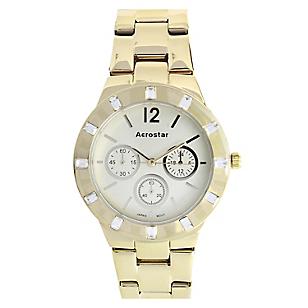 Reloj Aerostar Mujer Metal Dorado Falabella Com