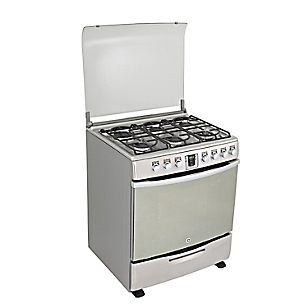 Cocina a Gas EG3092CX2 Inox 6 Quemadores