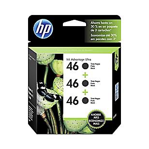HP Tinta 46 Negro Tripack