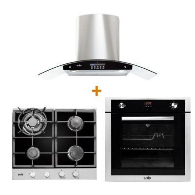 Sole Combo: Cocina + Campana Extractora + Horno El&eacutectrico