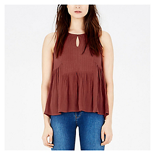 Blusa Embroidered sin Mangas