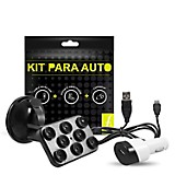 Kit Cargador + Soporte de Carro + Cable MIC