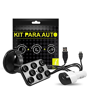 Kit Cargador + Soporte de Carro + Cable MIC