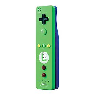 Wii Remote Motion Plus Luigi Verde