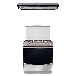 Combo Cocina Tremare 6 Hornillas + Campana Extractora 90 cm