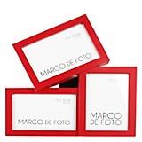Marco de Foto x 3 Rojo