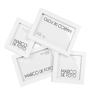Marco de Foto x 4 Blanco