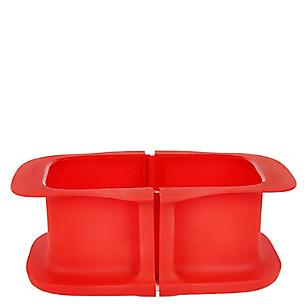 Molde Rectang Duo 15cm Rojo Oven
