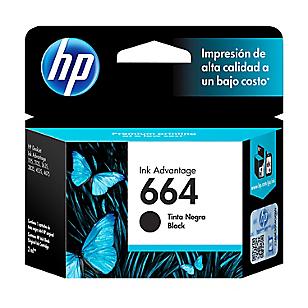 HP Tinta 664 Negro