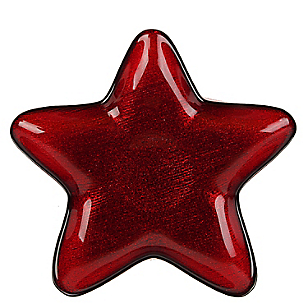 Plato Sitio Estrella Roja 23 Cm