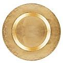 Plato Sitio Vidrio Dorado 33 Cm