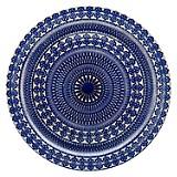 Plato Sitio Vidrio Diseño Azul 33 Cm
