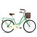 Bicicleta paseo verde agua
