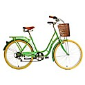 Bicicleta urbana holandesa coral
