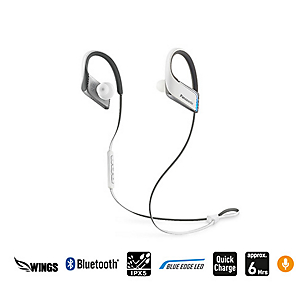 Audífono Clip Bluetooth Edge LED Blanco