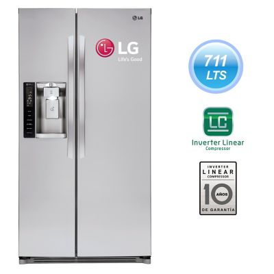 LG Refrigeradora GS73SGS 711 lt Inox