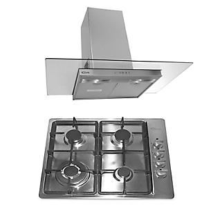 Combo Cocina Empotrable Premio Plus + Campana Extractora Glass 1