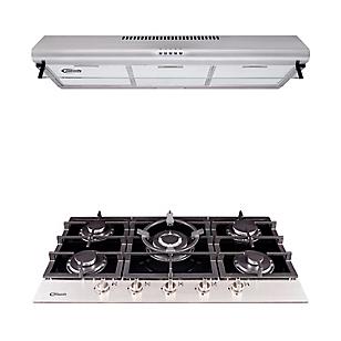 Combo Cocina Empotrable Petra + Campana Extractora CK 902 IX