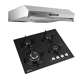 Combo Cocina Empotrable Durabile + Campana Extractora Vento 60