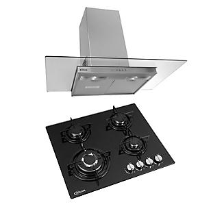 Combo Cocina Empotrable Durabile + Campana Extractora Glass 1
