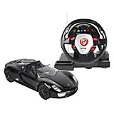 Carro Porsche Spyder 1.18 con timón