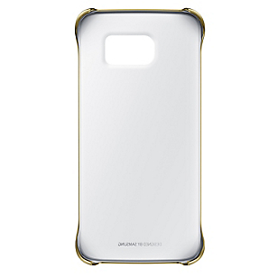 Clear Cover S6 Edge Dorado