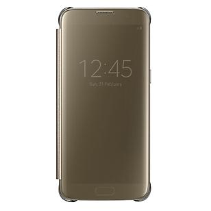 Clear View Cover Galaxy S7 Edge Dorado