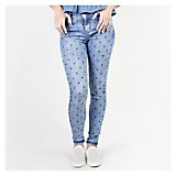 Pantalón Jean Mini Print