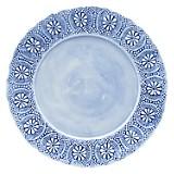 PLATO DE FONDO 29CM FLORES BLUE