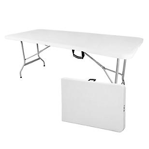 Mesa rectangular plegable 244cm