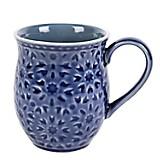 Mug Textura Half 11 cm Azul