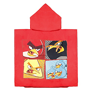 Toalla Poncho Angry Birds